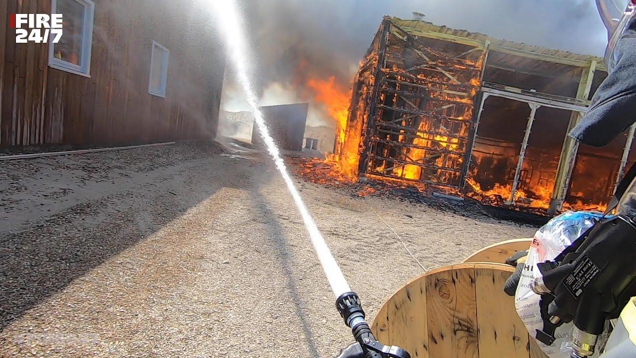 DUTCH FIREFIGHTERS - BRAND OP HET EILAND MARKER WADDEN