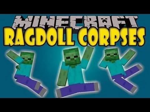 Реалистичная смерть мобов в майнкрафт!!!|Ragdoll Corpses|Обзоры модов для майнкрафт№34
