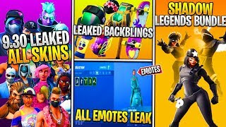 *NEW* Fortnite: ALL 9.30 LEAKED SKINS & EMOTES! (Shadow Legends, PEELY, Summer Drift, Bouncer, More)