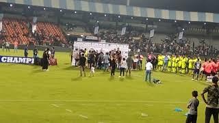 MS Dhoni's daughter ziva masti at celebrity classic football Match 2017