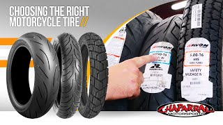 Motorcycle Tires 101 - Choosing the Right Motorcycle Tire