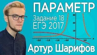Разбор задания 18 с параметром, ЕГЭ 2017 по математике, Артур Шарифов