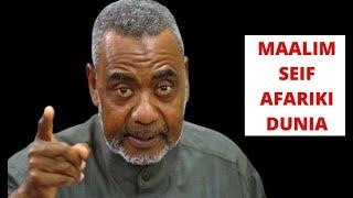 🔴#BREAKING: KWAHERI MAALIM SEIF, RAIS MWINYI ATHIBITISHA KIFO CHAKE, ATANGAZA SIKU 7...
