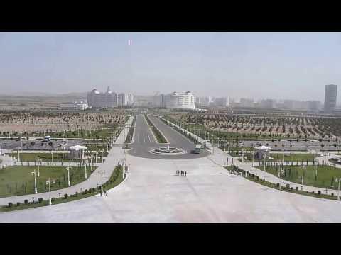 Overlooking Ashgabat Empty Streets Turkmenistan Bucketlist Trip Silk Road Turkmenistan Tours