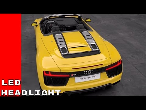 2017 Audi R8 Spyder V10 LED headlight System Animation