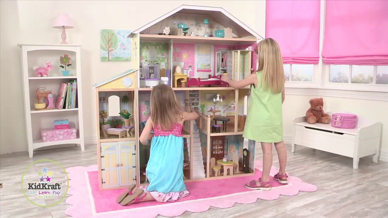 Kidkraft Majestic Mansion Dollhouse Youtube