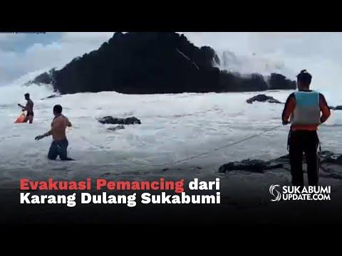 Evakuasi Pemancing Dari Karang Dulang Sukabumi