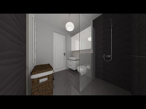 Projekt łazienki w PRO100 - YouTube