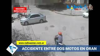 Video: Impactante choque de motos en Orán