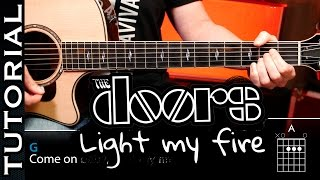 Cómo tocar Light My Fire de The Doors en guitarra tutorial y acordes fácil guitarraviva