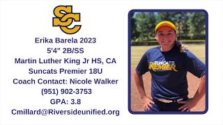 Erika Barela 2023 2B/SS Skills and Recruiting Video