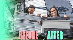 Slow-Rise Day/Night Roller Shades RV Install - Goodbye Mini Blinds! - RV Upgrade