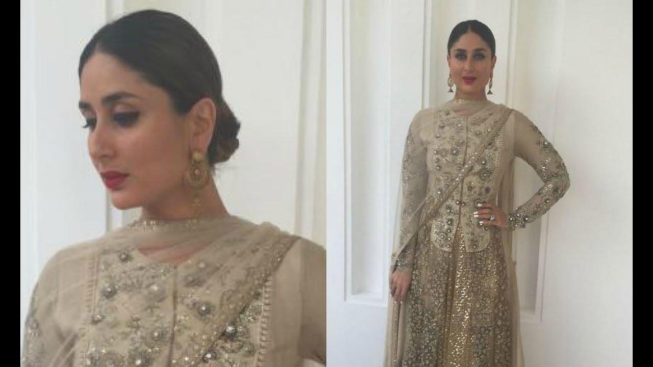 Kareen Kapoor Hot In Golden Lehenga - YouTube