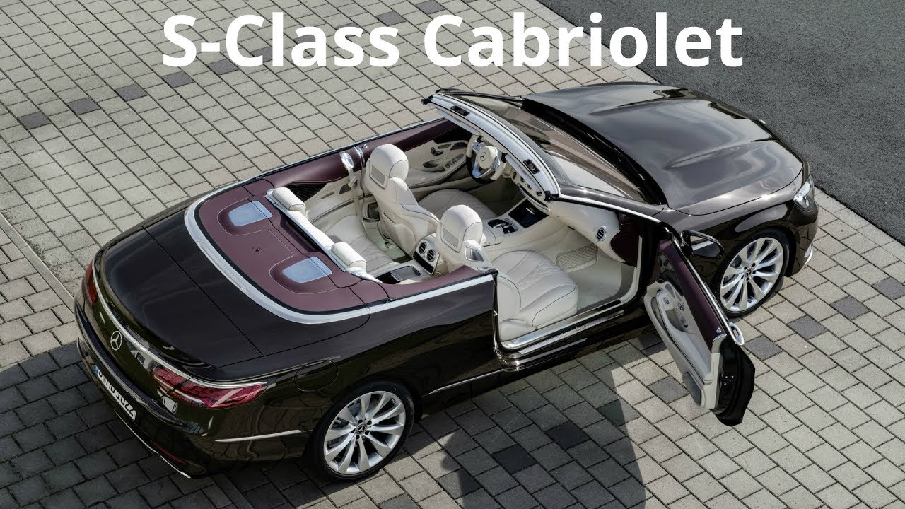 2018 Mercedes S Cl Cabriolet Interior And Exterior
