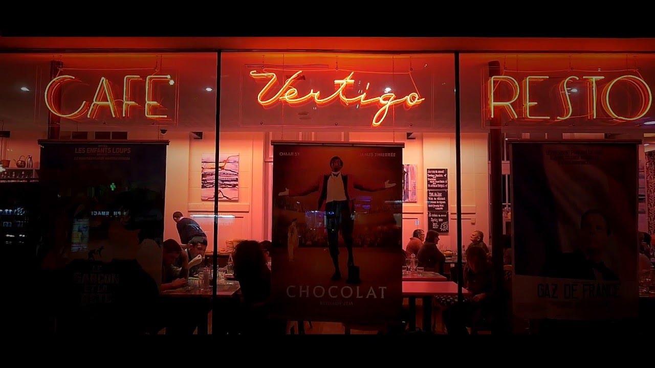 vertigo, le restaurant du ciné 104 à pantin - youtube