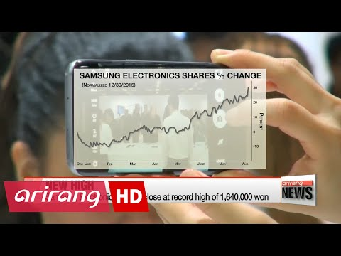 Samsung Electronics shares close at record high on 2nd quarter profits