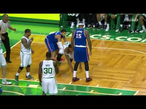 DeMarcus Cousins vs Marcus Smart FIGHT   Kings at Celtics   Dec  31, 2014   2014 15 NBA Season