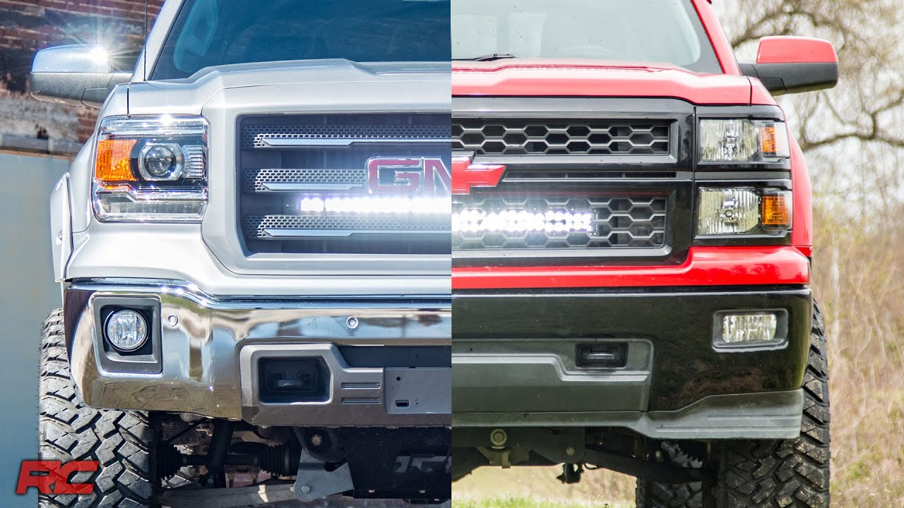 Superieur 2014 2018 GM 1500 Hidden 30 Inch Curved Cree LED Light Bar Grille Mount  Kits By Rough Country   YouTube