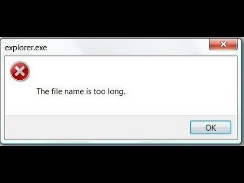 [ too long file name ] - How to Rename and Delete Files with Long Names on Windows 7, 8, 8.1, 10