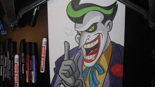 Drawing the Joker from the Animated Series