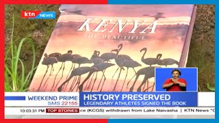 Book containing more than 100 signatures from legendary athletes in Kenya unveiled