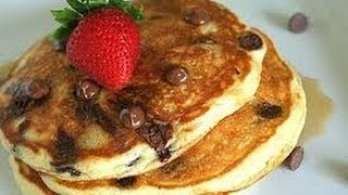 Healthy Chocolate Chip Pancakes?!