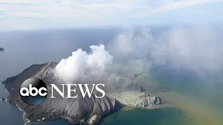 Tourists flee as volcano erupts in New Zealand