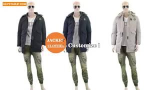 Men's Long Plus Size Outerwear Custom Winter Puffer Jacket Coat SJAK0009