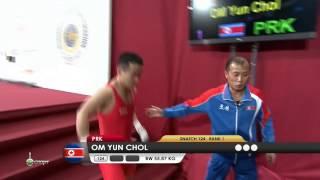 OM Yun Chol 1s 124 kg cat. 56 World Weightlifting Championship 2013