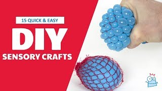 15 Quick & Easy Sensory Crafts For Kids
