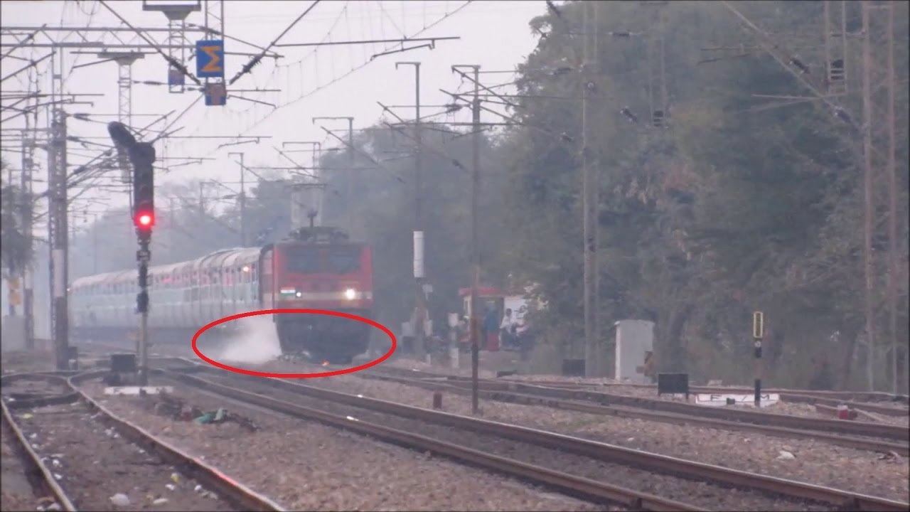 Indian Railways Freaky Accident Train Crushes Cycle And The