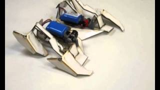 Self-folding origami robot walks on its own