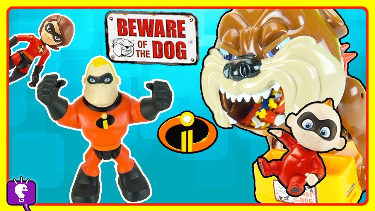 The Incredibles Get Jack Jack From Big Dog! Board Gameplay by HobbyKidsTV