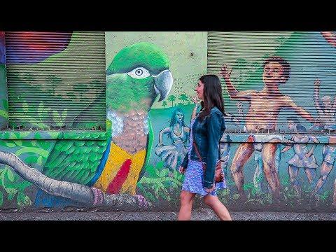 COLORFUL STREET ART! - Barrio Bellavista, Santiago, Chile