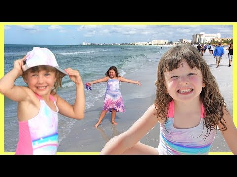 A FUN Day at The Beach with FUN FAMILY THREE Ava Isla and Olivia ! Vacation Vlog