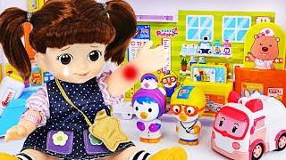 Kongsooni and the Baby are sick~! I'll treat you at Pororo Hospital! | PinkyPopTOY