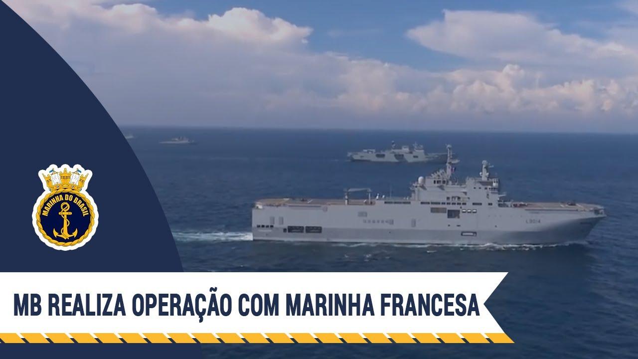 Marinha do Brasil realiza operação com a Marinha francesa
