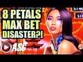 ★ALBERT GOES MAX BET $8.80!😱★ 8 PETALS | GARDENS OF MAGIC (Aristocrat) Slot Machine Bonus