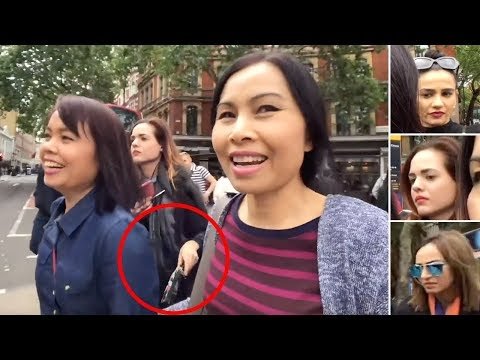 Sean Strife - Female Pickpocket Gang Caught On Camera in London