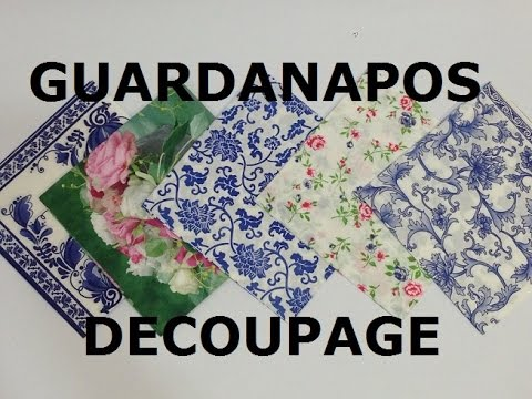 Guardanapos para Decoupage (Napkins for decoupage) - VIDEO