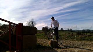 chris fairbrother trials mountain bike quarry 2