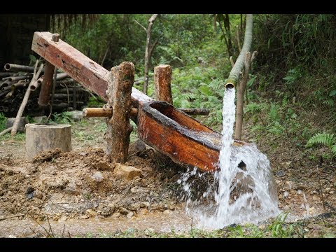 Primitive Skills: Water powered hammer (Monjolo) Part1