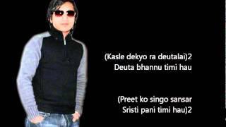 Timi Binako Jiwana Karaoke with Lyrics