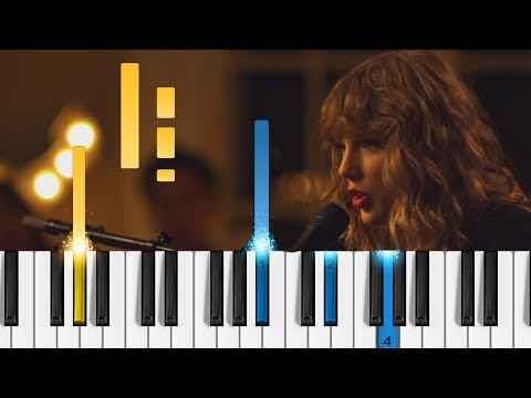 Taylor Swift - New Year's Day - EASY Piano Tutorial
