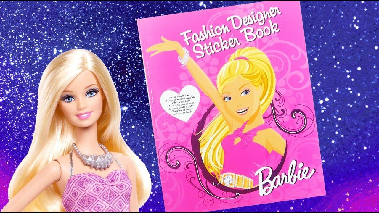 Barbie Sticker Activity Book Fashion Designer Sticker Book Youtube
