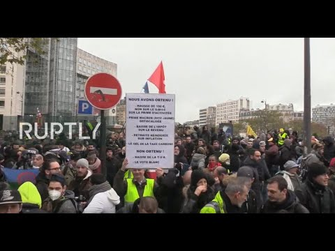 LIVE: Yellow Vests March In Paris Ahead Of First Anniversary