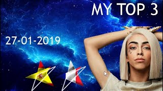 Eurovision 2019: My top 03 [from Greece] - With Rate