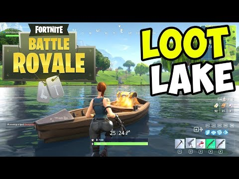 Looting LOOT LAKE for LEGENDARIES!! - Fortnite BATTLE ROYALE Gameplay