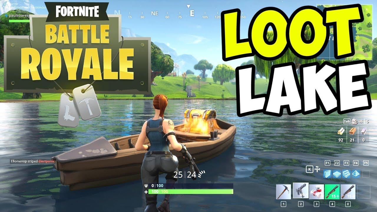 Looting LOOT LAKE for LEGENDARIES!! - Fortnite BATTLE ROYALE Gameplay