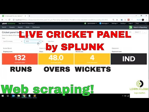 Getting Data From Website Into SPLUNK | Web Scraping Using Splunk | Creating Live Cricket Panel